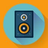 Flat Audio music and media Speaker icon Stock Photos