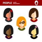 Flat avatar businesswoman on white background royalty free illustration