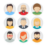Flat Avatar Character Icons Set 1 Stock Photo