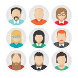 Flat Avatar Character Icons Set 2 Stock Photography