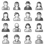 Flat avatar icons faces people Stock Photos