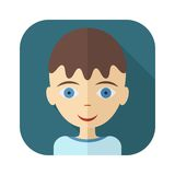Flat avatars of children - boy Stock Photography