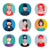 Flat Avatars Collection Stock Images