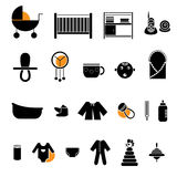 Flat baby icons collection Stock Images