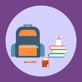Flat back to school concept Stock Images