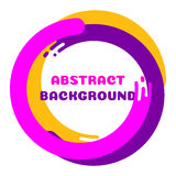 Flat background-01. Abstract dynamic geometric background with place under your text. Vector illustration Stock Photo