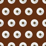 Flat background for coffee cup. Stock Image