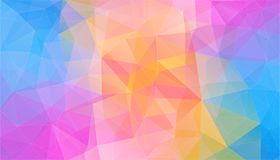 Light color Background of geometric triangle shapes. Flat Background of geometric shapes. Colorful mosaic pattern. Retro triangle background Royalty Free Illustration