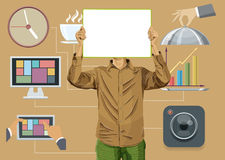 Flat Background With People Stock Photos