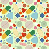 Flat Background of Pills Stock Photo