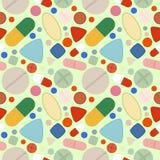 Flat Background of Pills Stock Photo