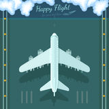 Flat background plane top view Royalty Free Stock Photo