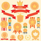 Flat Badges Labels Set Royalty Free Stock Photo