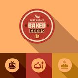 Flat baked goods design Stock Photography
