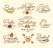 Flat bakery symbols brown Royalty Free Stock Photography
