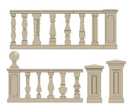 Flat balusters set Royalty Free Stock Photos