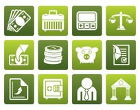 Flat Bank, business and finance icons. Vector icon set Stock Photo
