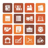 Flat bank, business, finance and office icons. Vector icon set Stock Illustration