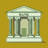 Flat bank icon. Stock Photography