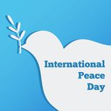 Flat banner with a dove, the international day of peace design  illustration. Flat banner  peace design  illustration Royalty Free Stock Photo