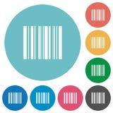 Flat barcode icons Royalty Free Stock Photos