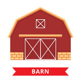 Flat barn icon Stock Image