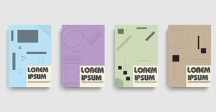 Flat bauhaus or web banner on halftone background. Vector abstract banner design web template. vector illustration