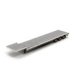 Flat Bed Semi Trailer on white 3D Illustration Royalty Free Stock Photography
