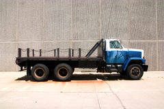 Flat Bed Side. This is the side view of a flat bed stright truck with a city style day cab Stock Image