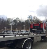 Flat Bed Tow Truck royalty free stock images