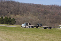 Flat Bed Truck Stock Photo
