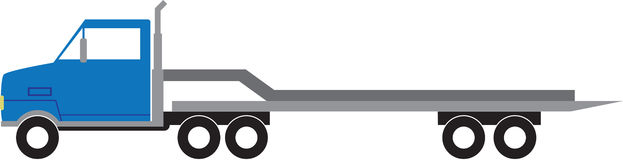 Flat Bed Truck Royalty Free Stock Photos