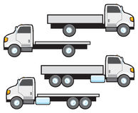 Flat Bed Trucks Royalty Free Stock Photography