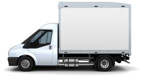 Flat bed van Royalty Free Stock Image