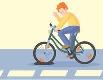 Man cursing bicycle flat Royalty Free Stock Image