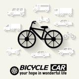 Flat bike background illustration concept. Tamplate for web and mobile design Stock Images