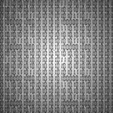 Flat binary code screen table cypher Royalty Free Stock Photos