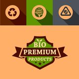 Flat bio premium design elements Stock Photo