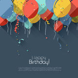 Flat birthday background Royalty Free Stock Photography