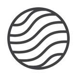 Flat black globe icon Royalty Free Stock Photos
