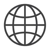 Flat black globe icon. Simple flat black globe icon vector Royalty Free Stock Images