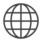 Flat black globe icon. Simple flat black globe icon vector Stock Images