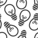 Flat black Light bulb seamless background Stock Photography