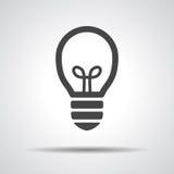 Flat black Light bulb Stock Images