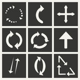 Flat in black and white concept mobile application. Arrows Stock Images