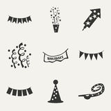 Flat in black and white concept mobile application Stock Photos
