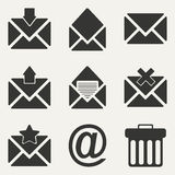 Flat in black and white concept mobile application Stock Image