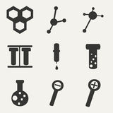 Flat in black and white concept mobile application. Laboratory Royalty Free Stock Image