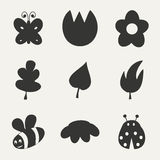 Flat in black and white concept mobile application. Nature Royalty Free Stock Photo