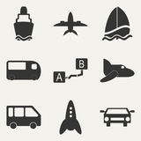 Flat in black and white concept mobile application Stock Photo
